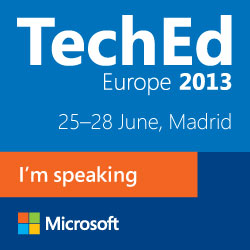 I'm speaking at TechEd Europe!