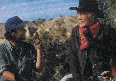 "Billy Crystal as ""Mitch"" and Jack Palance as ""Curly"" in City Slickers"